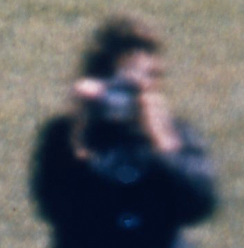 Figure in Blue, from frame 303 of the Zapruder film